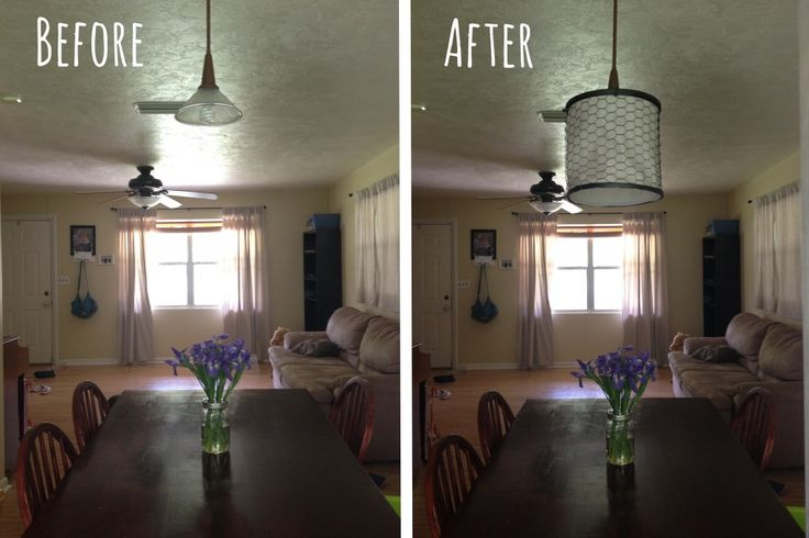 DIY Farmhouse Lamp Shade   Chickadee Homestead