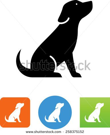 sitting dog icon - Google Search