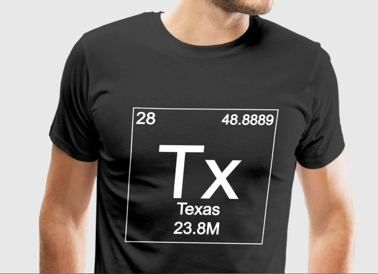 Periodic Table Of Texas T Shirt Designs Pinterest