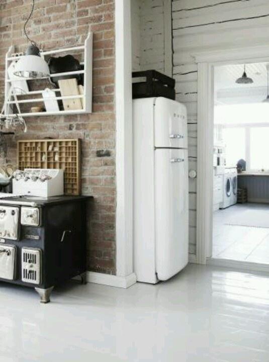 Die besten 25+ Industrielle kühlschränke Ideen auf Pinterest - küche mit side by side kühlschrank