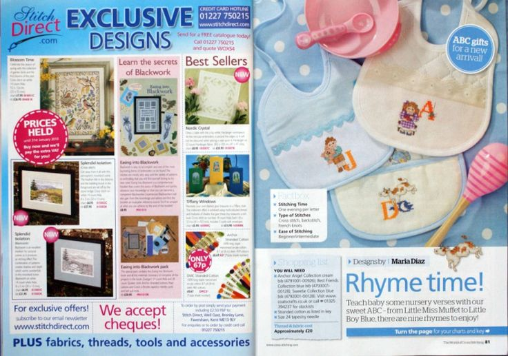 Nursery Rhyme ABC The World of Cross Stitching Issue 160  Hardcopy