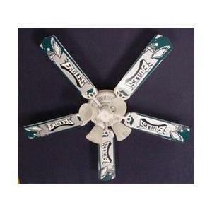 Ceiling Fan Designers 52FAN-NFL-PHI NFL Philadelphia Eagles Football Ceiling Fan 52 inch - Hubby's style!