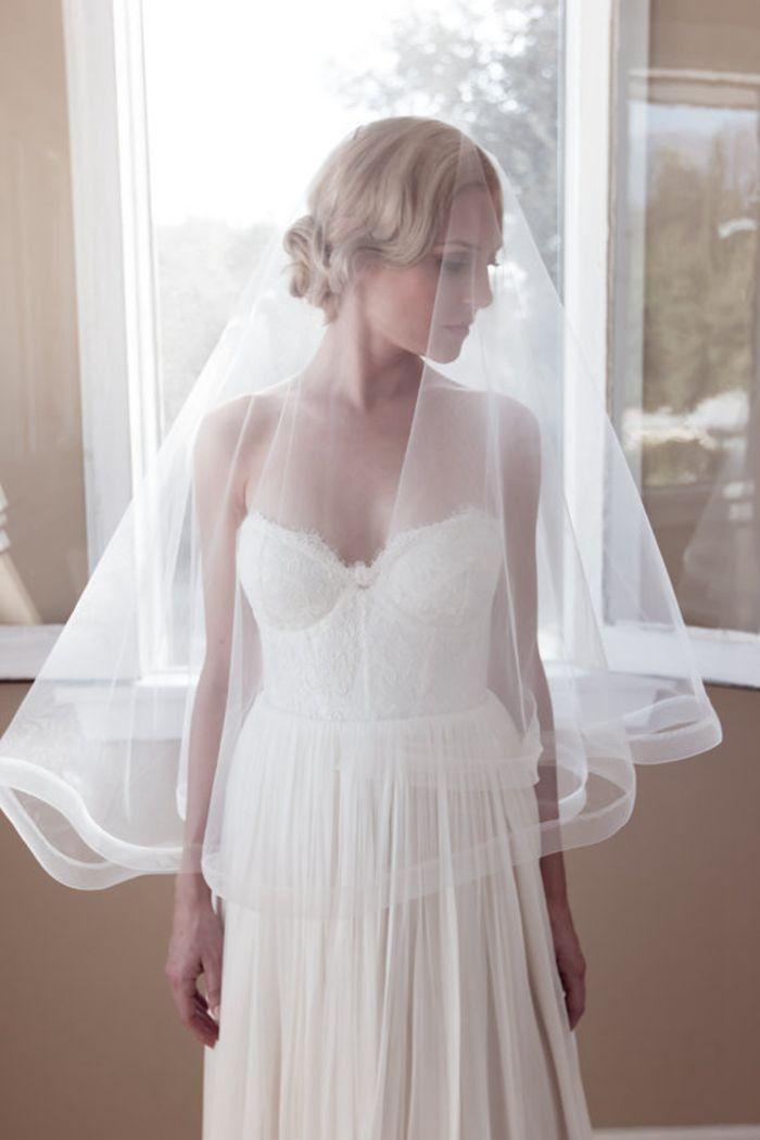 >> Click to Buy << Cheap Short White Wedding Veil Ivory Bridal Veil 2015 New Veu De Noiva Mantilla Cheap Wedding Accessories One Layer #Affiliate