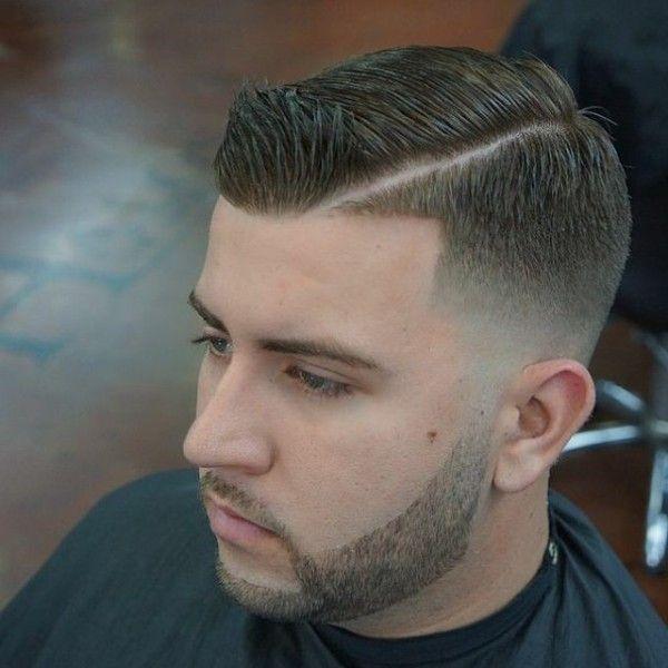 Haircut Side Part Nice Beard Lining Style Pinterest