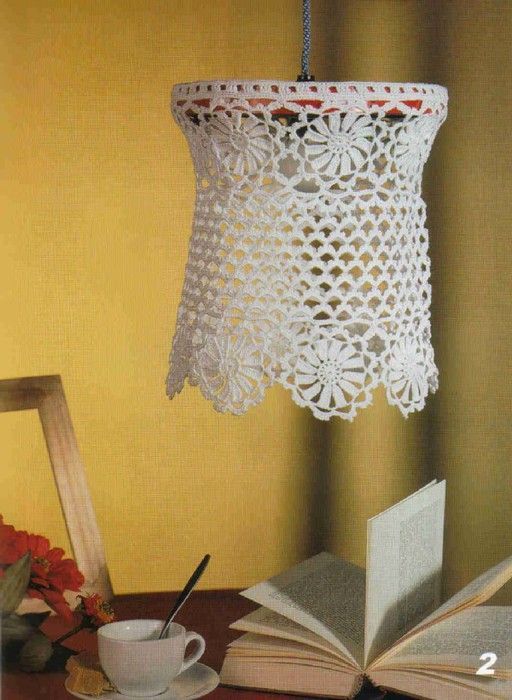 1366 best images about cro knit home decor on pinterest for Ideas for decorating lamp shades