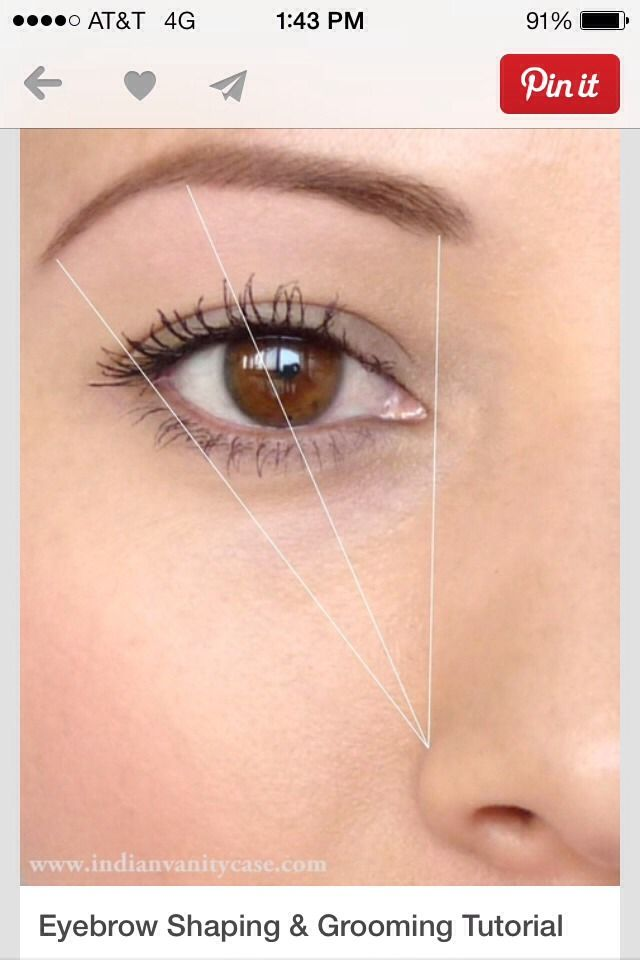How To Get Perfectly Shaped Brows | Brows, Perfect eyebrow ...
