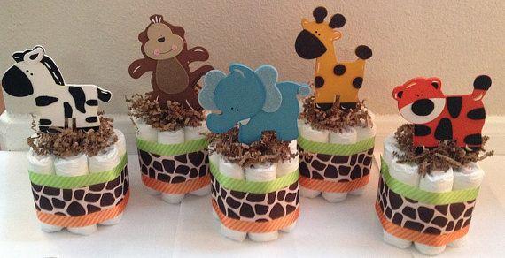 Centro de ducha bebé Safari pedazos tortas de por StorkandCo