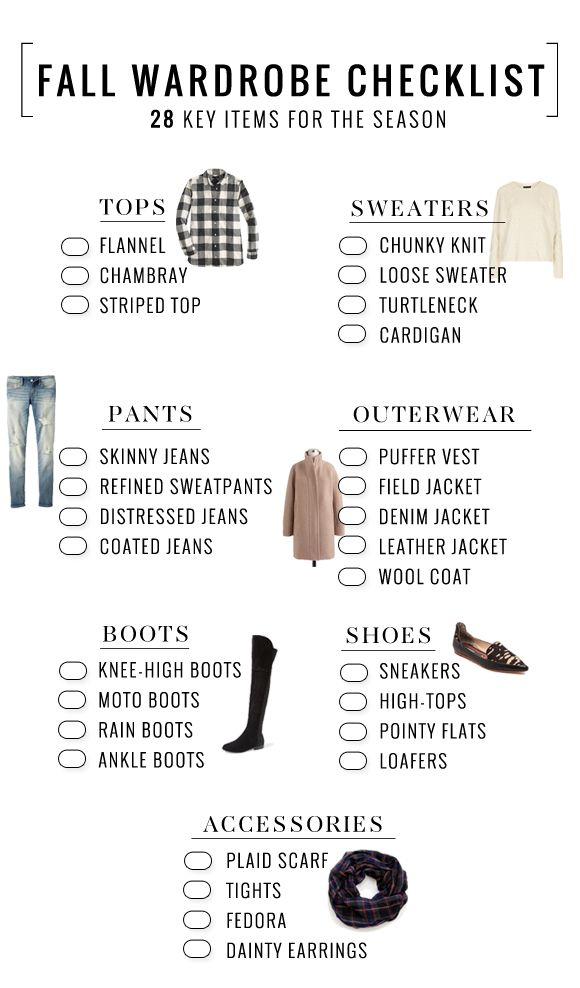 Fall Wardrobe Essentials Checklist