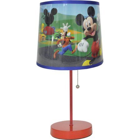 Mickey Mouse Head Stick Lamp, Multicolor