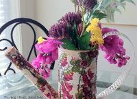 recycle veggie can into a watering can flowerpot, chalk paint, container gardening, crafts, decoupage, flowers, gardening, how to, repurposing upcycling