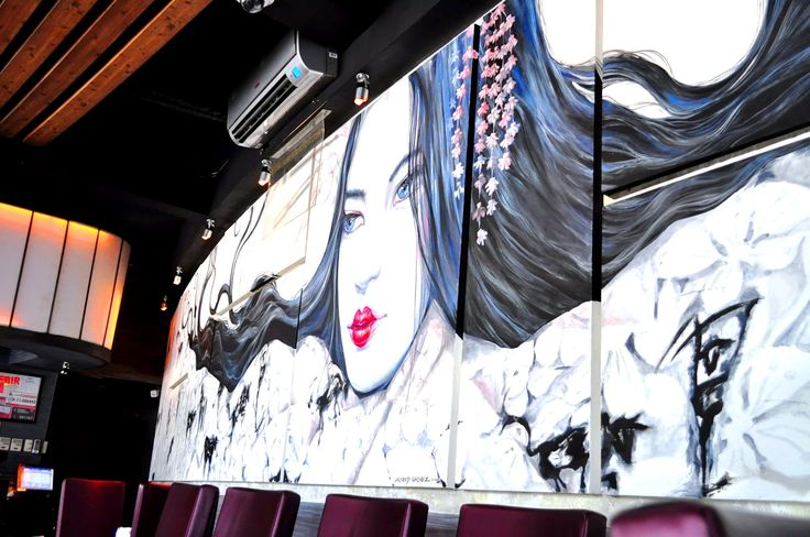 114 best images about japanese restaurant idea on for Bonifacio mural painting