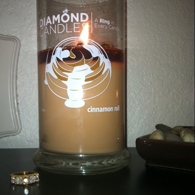 This is one of my first Diamond Candles with the ring I got. AMAZING! I had to fix it because it burned uneven at first, but it was easy.Gift Ideas, Diamond Candles, Burning Uneven, Fun Gift, Diamonds Candles
