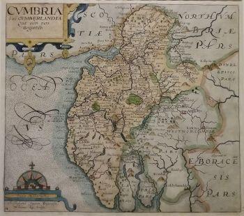 Antique Maps | UK England | Cumberland | Map by Saxton/Kip (Ref 1000198)