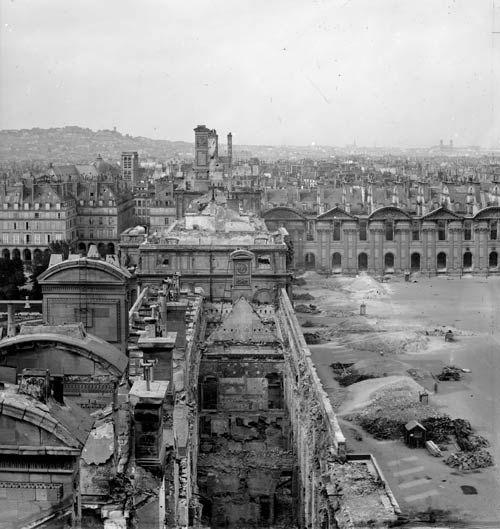 Palais des Tuileries - Vestiges après l'incendie