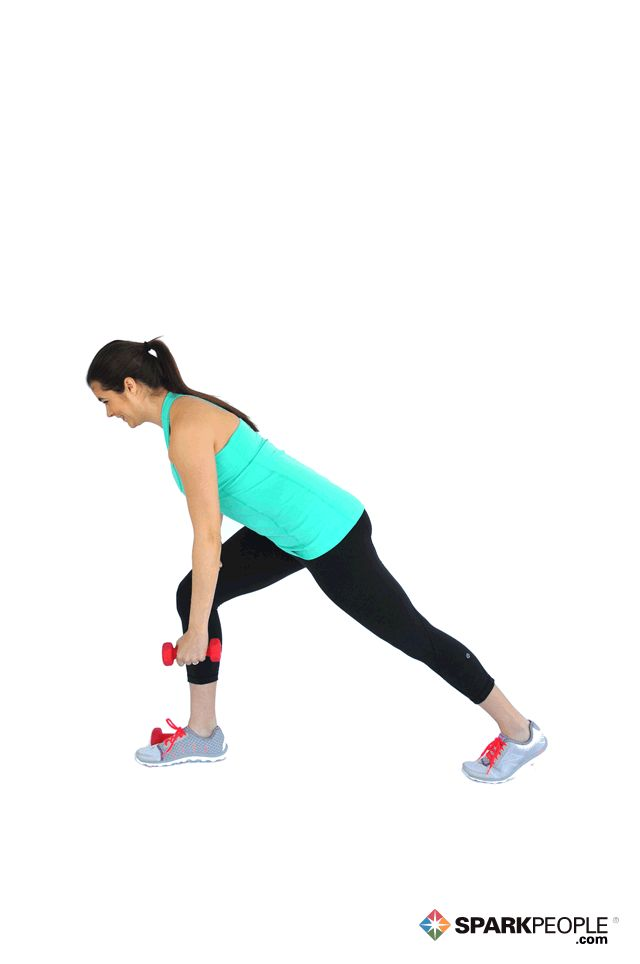 One-Arm Dumbbell Rows Exercise Demonstration via @SparkPeople