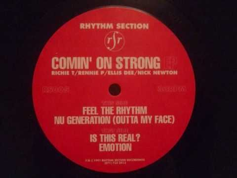 Rhythm Section - 'Feel The Rhythm' (Comin' On Strong EP) - Rhythm Section Recordings (1991)