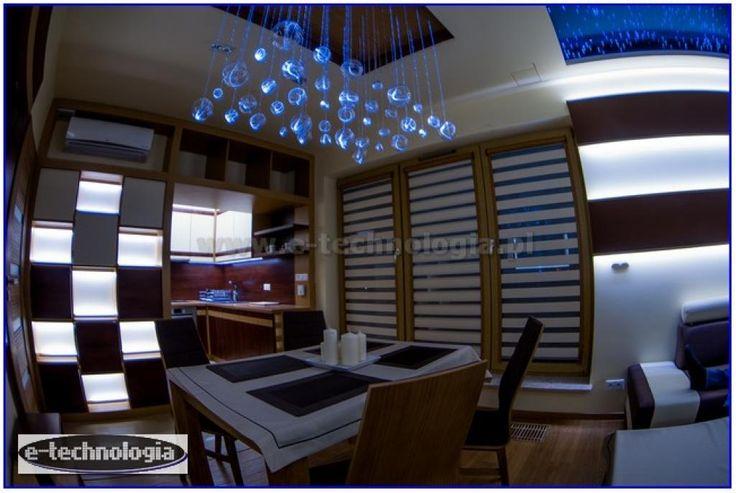 Żyrandol Światłowodowy Orbita dekoracja kuchni