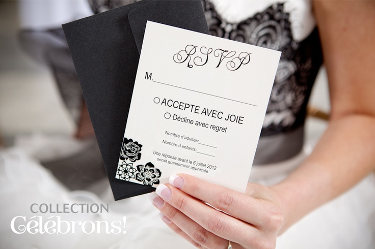 Mariage, collection Célébrons.  RSVP - Chics floralies collection