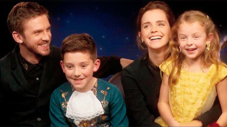 WATCH THIS INTERVIEW! | Come behind the scenes and take a look at what happened when our mini Belle and the Beast met Emma Watson and Dan Stevens #Beauty and the Beast