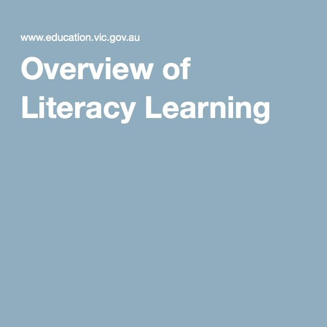 Overview of Literacy Learning