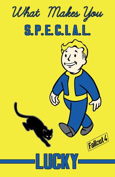 Lucky S.P.E.C.I.A.L. Fallout 4 Art Print