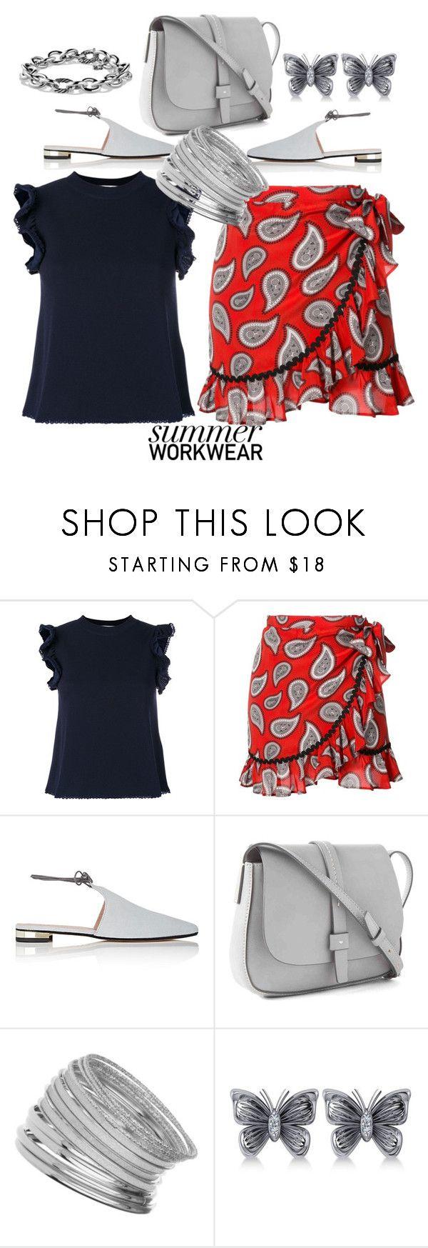"""Summer Workwear"" by helenaymangual ❤ liked on Polyvore featuring See by Chloé, Dodo Bar Or, Barneys New York, Gap, Miss Selfridge, Allurez and David Yurman"