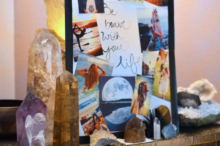How to Create a Vision Board, Creating a Vision Board with Crystals