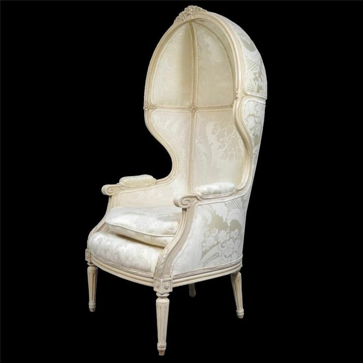 Vtg French Louis XVI Style White Painted Carved Canopy Hood Versaille Arm Chair & 1069 best 1000 CHAIRS images on Pinterest | Armchairs Lawn chairs ...