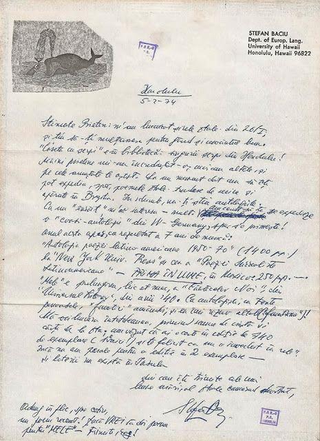 "Petre Stoica, remember necesar: STEFAN BACIU - Arhiva literara personala ""Petre St..."