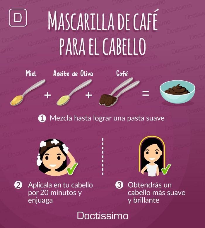 Tratamientos de café para el pelo: más suave, sedoso y brillante, conoce más aquí... #belleza #tratamientoscabello #remedios #mascarillas #pelo #cabello