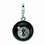 Sterling Silver 3-D Swarovski Crystal Magic 8 Ball Charm. (Since I consult mine constantly...)