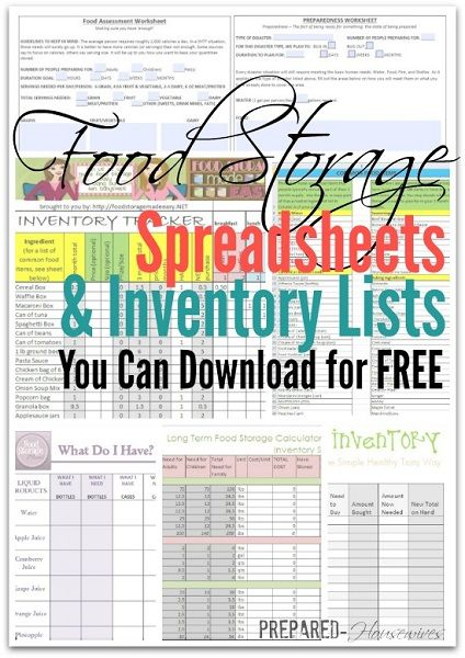 5 Food Storage Inventory Spreadsheets and Lists You Can Download For Free
