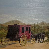 Arriving at Apache Junction  Oil on Board 9 X 12 ins Arriving at Apache Junction, Arizona