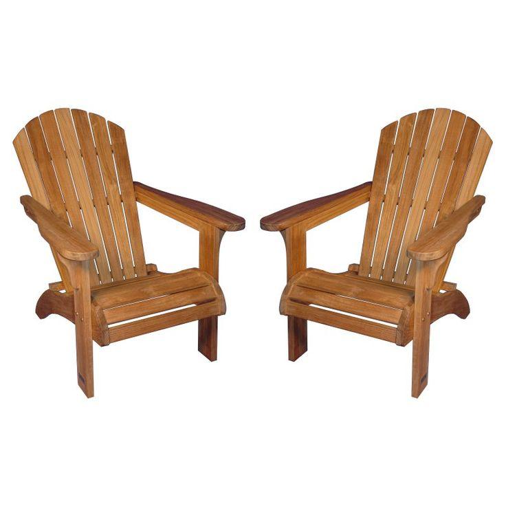 Outdoor Regal Teak Adirondack Chairs - Set of 2 - R231-PAIR