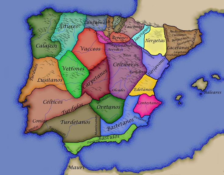 Pueblos prerromanos de la Península Ibérica, entre ellos los túrdulos