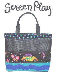 Tote Using Vinyl Mesh - this turned out SEW good!  Very durable and holds it's shape well.
