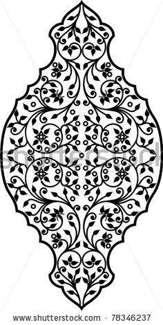 Vector illustration of arabic vegetation ornament by Malysh Falko, via Shutterstock
