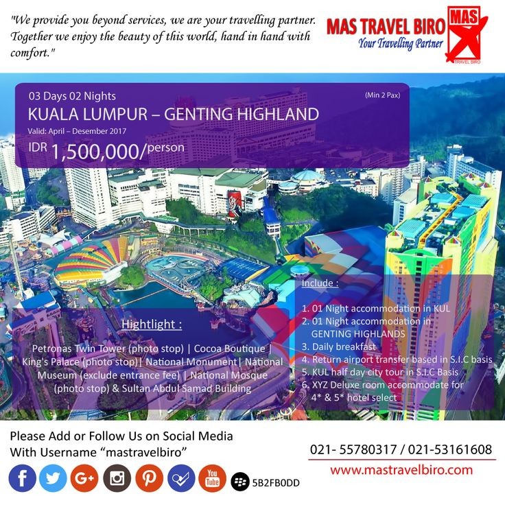 Promo tour paket ke Kuala Lumpur 3 hari 2 malam. Harga dimulai dari Rp 1.500.000. Yukk... liburan bersama keluarga, teman, pacar. Pesan sekarang😍  Phone : 021 55780317 WA : 081298856950 Email : tourhotel.metos@mastravelbiro.com  #mastravelbiro #Promotour #kualalumpur