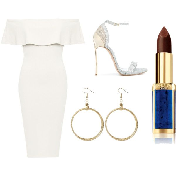 Sans titre #9524 by merveille67120 on Polyvore featuring moda, WearAll, Casadei and L'Oréal Paris
