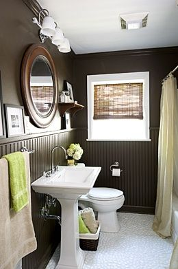 Tortoise Shell Bathroom Color Pallette  Love The Painted Beadboard U0026  Matching Walls