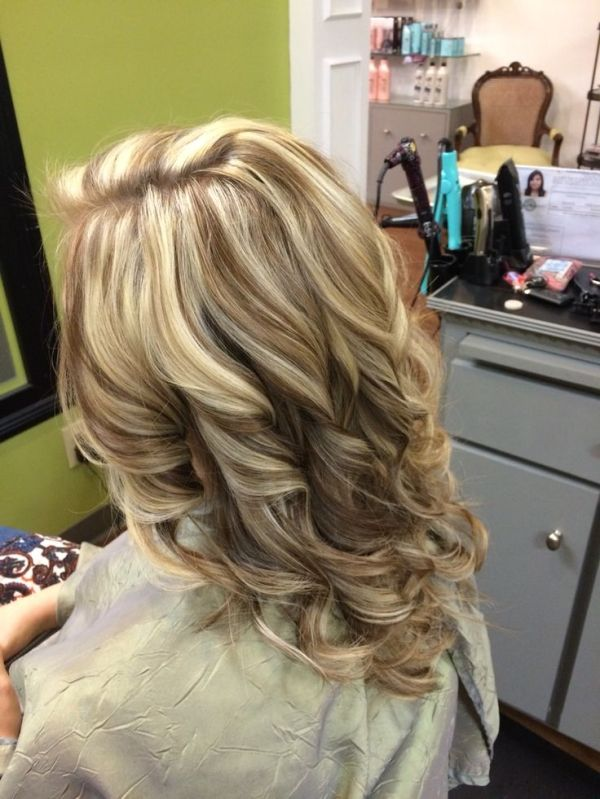 New Hair Blonde Highlights And Honey Carmel Low Lights By