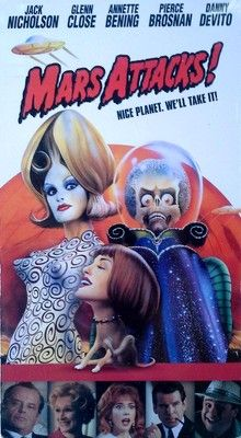 MARS ATTACKS - TIM BURTON / JACK NICHOLSON - VHS TAPE - STILL SEALED