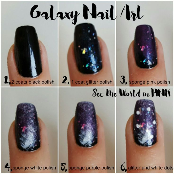 Manicure Monday - Galaxy Nail Art Tutorial!    See the World in PINK