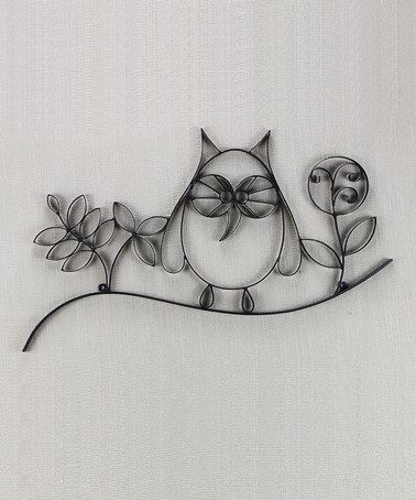 do with toilet paper rolls! Loving this Owl Wall Art on #zulily ...