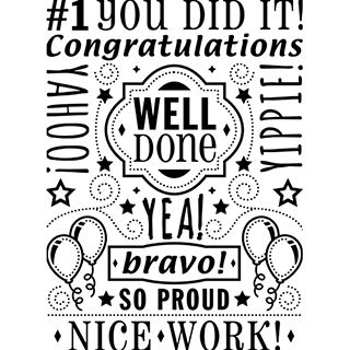 Darice® Embossing Folders: Congratulations Word Collage Background Folder, 4.25 x 5.75