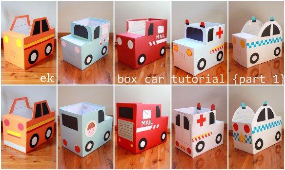 Cardboard box car tutorial