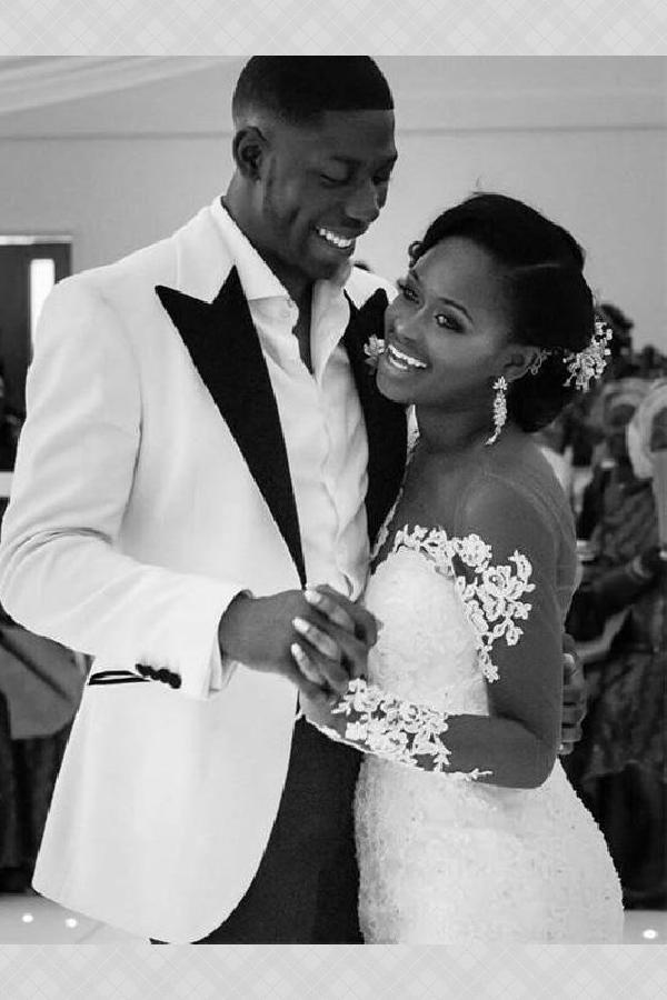 Customized Outstanding Mermaid Wedding Dress, Long Sleeves Wedding Dress, Lace Wedding Dress