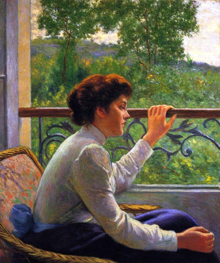 """Federico Zandomeneghi (1841-1917) """"L'attesa"""""""