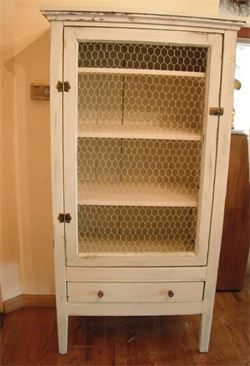 grandma's chicken wire shabby chic pie safe 64 in. tall x 30 in. wide x 18 in. deep