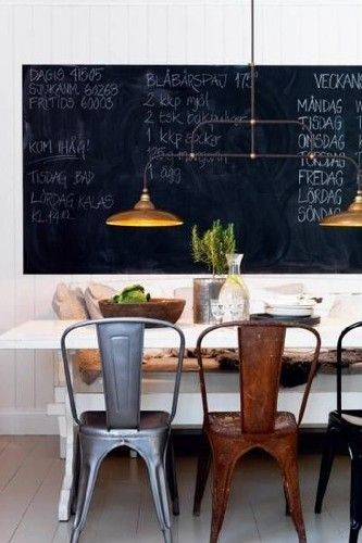 Metalic chairs . 10 INDUSTRIAL DINING ROOM DESIGN - See more at: http://vintageindustrialstyle.com/industrial-dining-room-design/